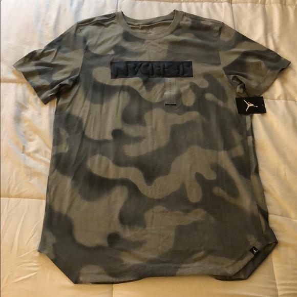 reputable site d479b 8808b Jordan Camouflage Jump Man Long Curved Tee